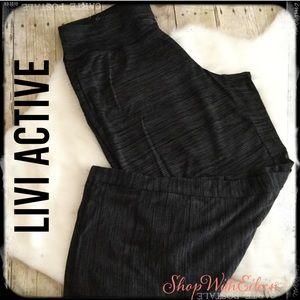 Lane Bryant Livi Active Gray Black Lounge Pants
